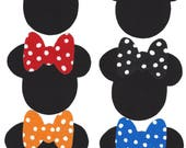 6 Minnie iron on fabric appliques DIY - small