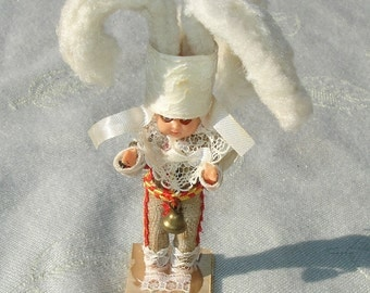 Vintage Miniature Ethnic Doll on Stand