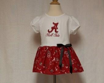 Alabama toddler dress,Crimson Tide dress,toddler dress,infant dress,girls football dress,party dress,football dress