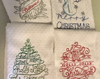 Christmas Dish towel, funny quotes, housewarming gift, host or hostess gift