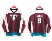vintage jersey / Anaheim Mighty Ducks / hockey / 1990s Anaheim Mighty Ducks Kariya 9 jersey Medium