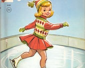 Little Skater Vintage Rand McNally Elf Book by Diane Sherman Illustrated by Dorothy Grider