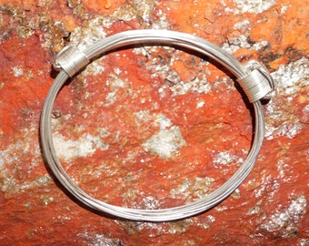 African Elephant Hair Bracelet - Sterling 930 Argentium Silver - Two Knots made in Zimbabwe ships from USA.
