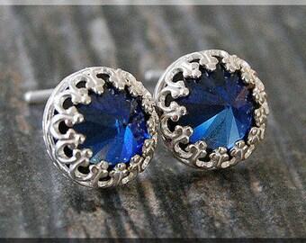 Birthstone Earrings. Sterling Silver Gemstone Post Earrings, Choose Your Birthstone, Handmade sterling silver earrings, Stud Earrings