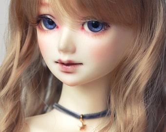 SD/DD/Unoa Gold Star grey velvet doll choker