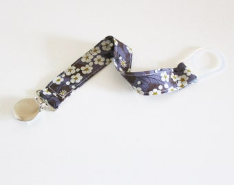 Pacifier holder in Liberty Mitsi Grey MAM adapter or not - ON ORDER