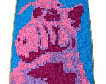 HURRY FLASH SALE Modern Quilt - Alf Quilt - Pixel Quilt - Toddler Quilt - Crib Quilt