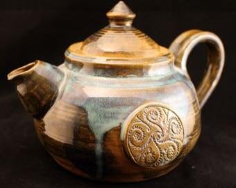 Handmade Stoneware Clay Teapot