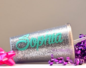GLITTER TUMBLER, Personalized Sparkle Tumbler, Bridesmaid gift, Bridal Party, Flower Girl Tumbler, Flower Girl Gift,Glitter Personalized Cup