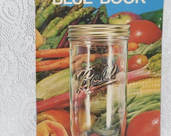 Ball Blue Book Recipes Cookbook How to Guide Canning Freezing Vintage 1974