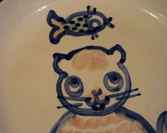M.A. Hadley Cat Dish