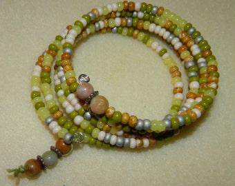 Native American Cactus Garden Infinity Beaded Bracelet