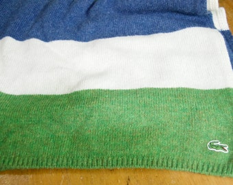 Authentic Lacoste Wool Blend Scarf