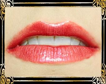 DEVILISH Lip Gloss: 10 mL Tube, Cranberry Red Glitter Lip Glaze, Iridescent Lip Color, Vanilla Flavor, Ships Out in 4-7 Days