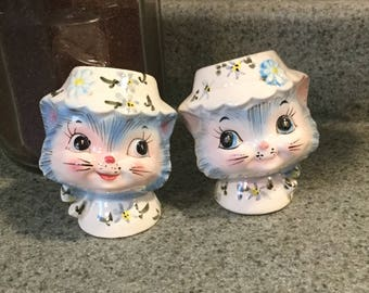 Vintage Lefton Miss Priss Salt and Pepper Shakers,Great Condition,1950s