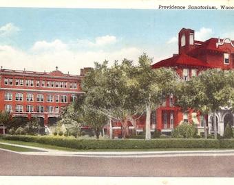 Vintage Postcard...Texas, Providence Sanatorium, Waco...Used, 1942..no. 3595