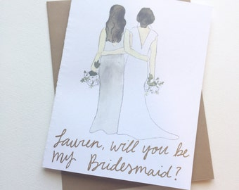 Will you be my Bridesmaid Card // Wedding Party