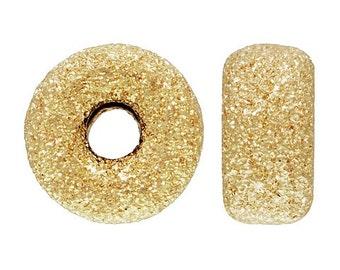 14k Gold Filled 4mm Stardust Roundel Beads 10pcs