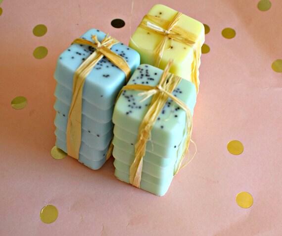 Soap Wedding Favors Set of 6 - Bridal Shower - Party Favors - Bridesmaids Gift - Rustic Wedding - Custom Wedding Favors