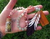 Brigid Pagan Prayer Beads with Charm Bottle - Irish goddess of poetry, smithcraft, and healing