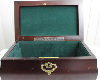 Vintage Box Rosewood and Brass Ornate