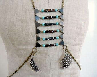 Boho gypsy tribal festival body chains jewelry - Willow