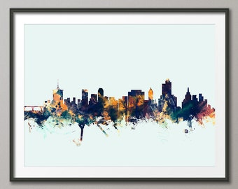 Tulsa Skyline, Tulsa Oklahoma Cityscape Art Print (2525)