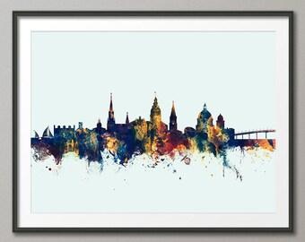 Annapolis Skyline, Annapolis Maryland Cityscape Art Print (2747)