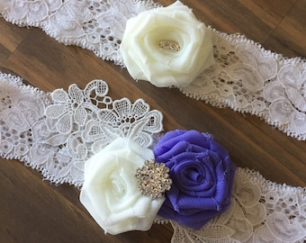 Wedding Garter Set/Garter Set/Garter/Bridal Garter/Vintage Wedding/ Lace Garter Set/Bridal Accessories
