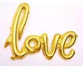 """LOVE Balloons - HUGE Balloon Silver or Gold Big Heart Balloon Love Balloons Wedding Ballon 42"""" ( Wedding Decor & Party Balloon Supplies )"""