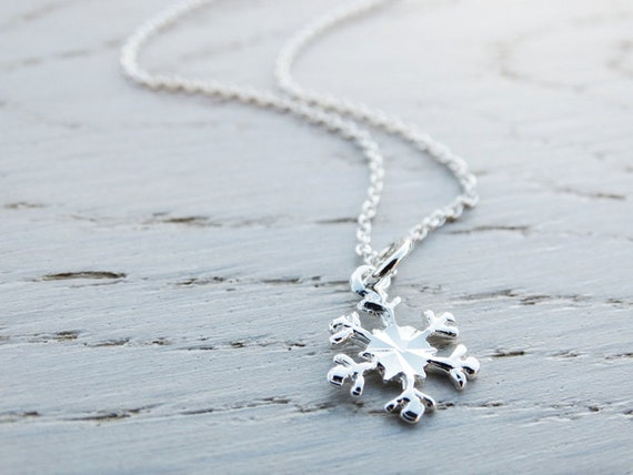 Silver Snowflake Necklace - Sterling Silver