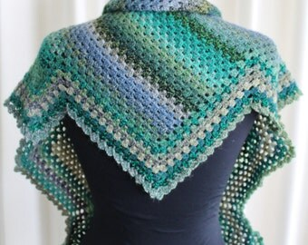 Chevron Granny Shawl crochet pattern