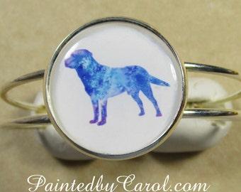 Labrador Retriever Bracelet, Black Lab, Yellow Lab, Chocolate Lab, Lab Jewelry, Cuff Bracelet, Lab Gift, Lab Mom Gift, Retriever Gift