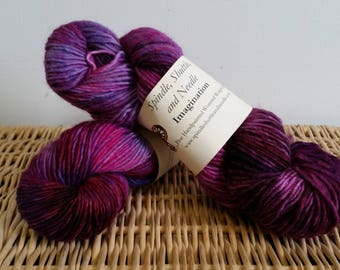 """Hand Dyed Wool Mohair Yarn, """"Passion"""", Kettle Dyed Yarn"""