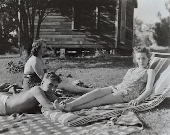 Original Vintage Photograph Family Dynamic 1940