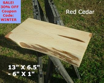 Live Edge Red Cedar Wood Slab Finished DIY Floating Shelf, Natural Edge Shelving, Floating Table Top, Corner Shelf, Live Edge Shelf, 0049