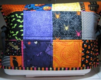 Halloween Quilted Reversible Sewing Machine Dust Cover