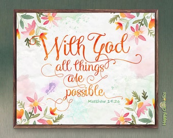 With God All Things Are Possible Print