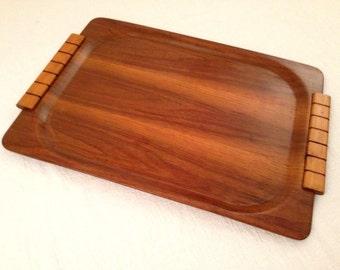 Vintage Wood MCM TRAY Danish Modern Walnut Overton Bentwood Eames Era