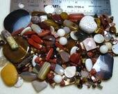 SALE - Destash - Semi-Precious Stone Lot - variety - browns, cream - beads SP930