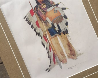 1945 Native American print by K. Ottinger