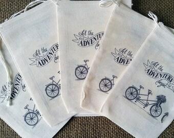 Bridal Shower Gift Bags - 4 x 6  Muslin Gift Bag - Bridal Gift Bags -   Party Favor Gift Bags - Wedding Favor -  Wedding Candy Gift Bag