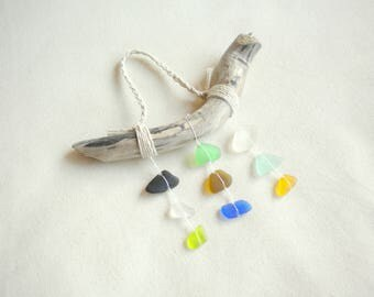Seaglass ornament / sea glass ornament / beach ornament / beach christmas