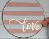 DIY Love FLOURISH Sign ***Stencil or Lettering Only***