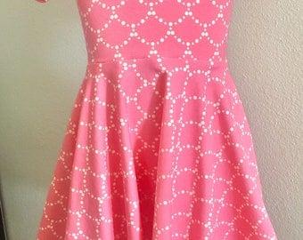 Girl Dress, Easter Dress, Play Dress Knit Dress, Circle Skirt Dress, Pink Dress, Crayola dress
