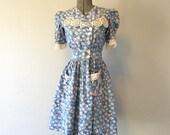 RESERVED FOR MGOTTMAN130 Vintage 1940's Feedsack Dress