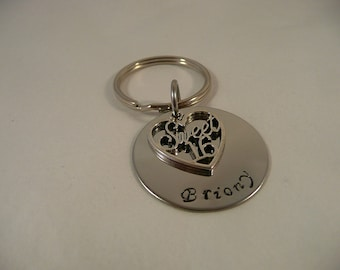 Sweet 16th keyring, hand stamped metal, birthday present