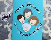 Golden Girl Wishes - Birthday Card