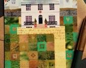 John Keats - Greeting Card - Keats House - Hampstead - Illustration - English Romantics - Literature - Collage - Writers' Houses - Naive Art