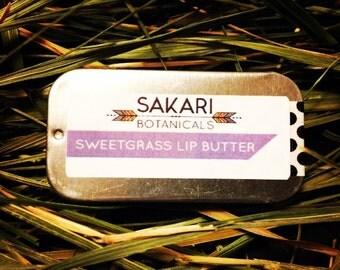 Organic Sweetgrass Lip Butter